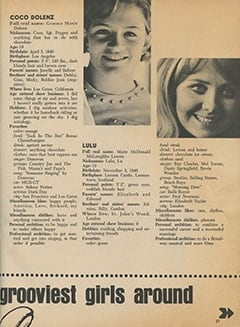 <cite>Tiger Beat</cite> (June 1968), Life-lines of the Grooviest Girls Around, Page 37