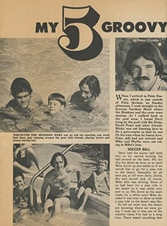 <cite>Tiger Beat</cite> (June 1968), My 5 Groovy Days with The Monkees, Page 46