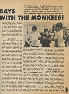 <cite>Tiger Beat</cite> (June 1968), My 5 Groovy Days with The Monkees, Page 47
