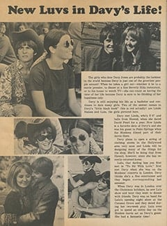 <cite>Tiger Beat</cite> (June 1968), New Luvs in Davy&rsquo;s Life, Page 54
