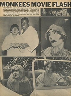 <cite>16</cite> (July 1968), Monkees Movie Flash, Page 36