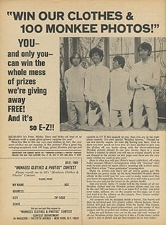 <cite>16</cite> (July 1968), Win Our Clothes & 100 Monkee Photos, Page 52