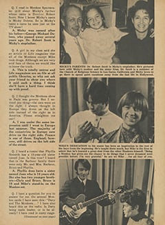 <cite>Monkee Spectacular</cite> (July 1968), Monkee Rumors, Page 23