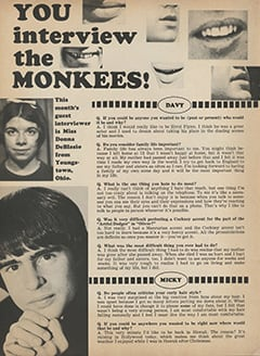 <cite>Monkee Spectacular</cite> (July 1968), You Interview The Monkees, Page 36