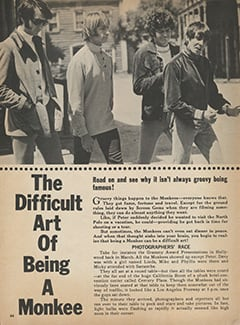 <cite>Monkee Spectacular</cite> (July 1968), The Difficult Art of Being a Monkee, Page 44