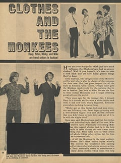 <cite>Monkee Spectacular</cite> (July 1968), Clothes and The Monkees, Page 58