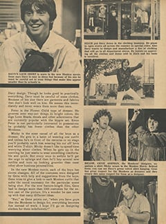 <cite>Monkee Spectacular</cite> (July 1968), Clothes and The Monkees, Page 59