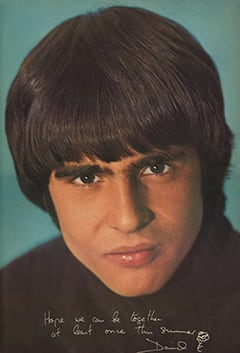 Davy Jones - Hope we can be together at least once this summer / David