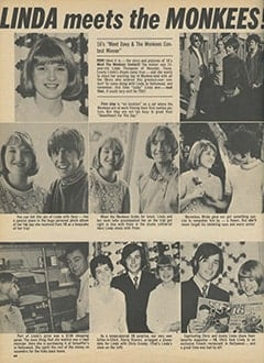 <cite>16</cite> (August 1968), Linda Meets The Monkees, Page 44