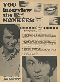<cite>Monkee Spectacular</cite> (August 1968), You Interview The Monkees, Page 30