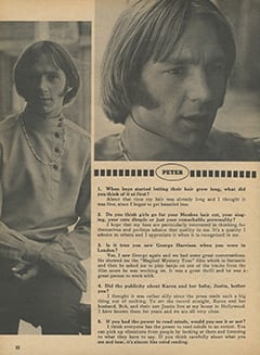 <cite>Monkee Spectacular</cite> (August 1968), You Interview The Monkees, Page 32