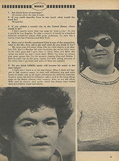 <cite>Monkee Spectacular</cite> (August 1968), You Interview The Monkees, Page 33