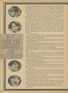 <cite>Monkee Spectacular</cite> (August 1968), Is It True The Monkees Are Playboys?, Page 66