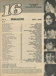 <cite>16</cite> (September 1968) table of contents
