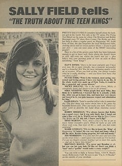 <cite>16</cite> (September 1968), Sally Field Tells &ldquo;The Truth About the Teen Kings&rdquo;, Page 24