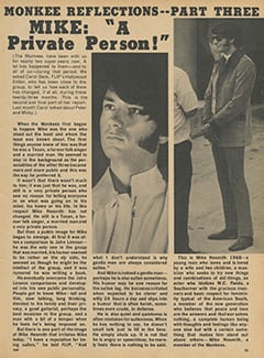 "<cite>Flip</cite> (September 1968), Monkee Reflections—Mike: ""A Private Person"", Page 25"