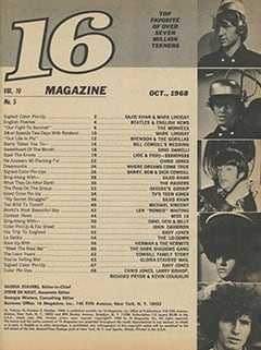 <cite>16</cite> (October 1968) table of contents