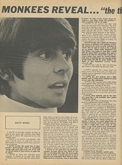 <cite>16</cite> (December 1968), Monkees Reveal&hellip; &ldquo;The Things We Hate &amp; The Things We Love&rdquo;, Page 14