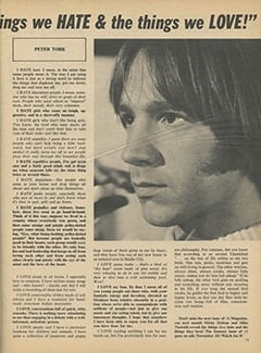 <cite>16</cite> (December 1968), Monkees Reveal&hellip; &ldquo;The Things We Hate &amp; The Things We Love&rdquo;, Page 15