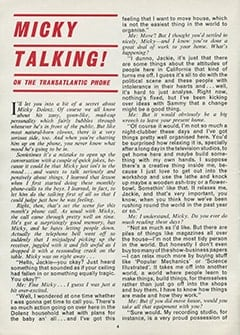 <cite>Monkees Monthly</cite> (January 1969), Micky Talking on the Transatlantic Phone, Page 04