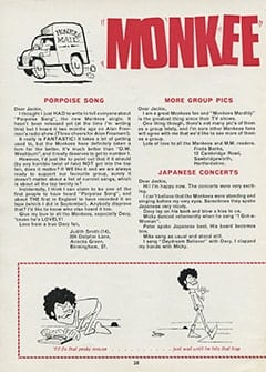 <cite>Monkees Monthly</cite> (January 1969), Monkee Mail, Page 28
