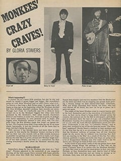 <cite>16</cite> (February 1969), Monkees Crazy Craves, Page 52