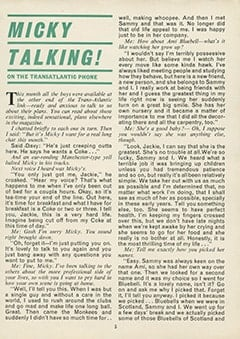 <cite>Monkees Monthly</cite> (April 1969), Micky Talking on the Transatlantic Phone, Page 05