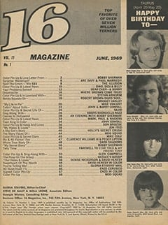 <cite>16</cite> (June 1969) table of contents