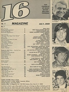 <cite>16</cite> (July 1969) table of contents