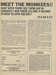 <cite>16</cite> (July 1969), Meet The Monkees, Page 44