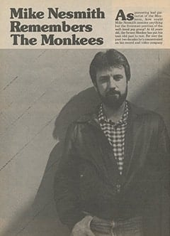 <cite>Monkee Spectacular Reprint</cite> (1987), Mike Nesmith Remembers The Monkees, Page 60