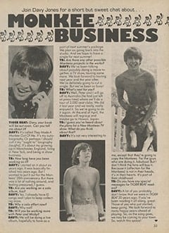 <cite>Tiger Beat Super Special</cite> (1987), Monkee Business, Page 33