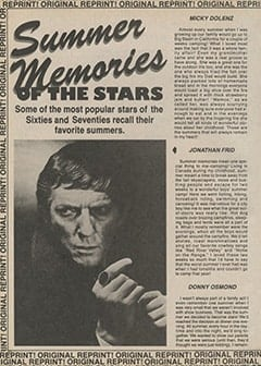 <cite>Tiger Beat Super Special</cite> (1987), Summer Memories of the Stars, Page 58