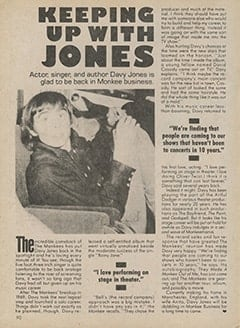 <cite>Tiger Beat Super Special</cite> (1987), Keeping Up with Jones, Page 90