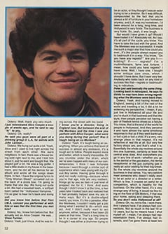 <cite>Creem Presents</cite> (April 1987), The Monkees '87: Yesterday, Today & Tomorrow—Micky Dolenz, Page 32