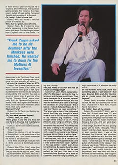 <cite>Creem Presents</cite> (April 1987), The Monkees '87: Yesterday, Today & Tomorrow—Micky Dolenz, Page 33