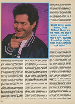 <cite>Creem Presents</cite> (April 1987), The Monkees '87: Yesterday, Today & Tomorrow—Micky Dolenz, Page 38