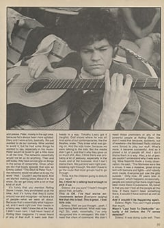 <cite>Creem Presents</cite> (April 1987), The Monkees '87: Yesterday, Today & Tomorrow—Micky Dolenz, Page 39
