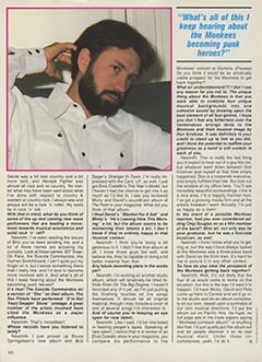 <cite>Creem Presents</cite> (April 1987), Mike Nesmith Remembers, Page 66