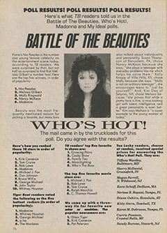 <cite>Tiger Beat</cite> (April 1987), Poll Results, Page 76