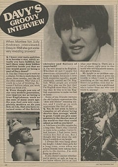 <cite>Star</cite> (July 1987), Davy's Groovy Interview, Page 48