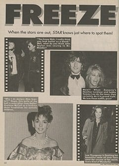 <cite>Star</cite> (July 1987), Freeze Frame, Page 68