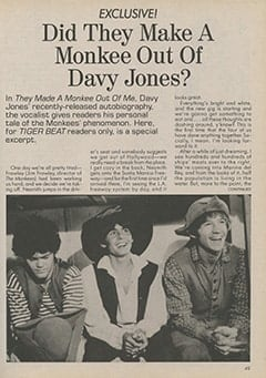 <cite>Tiger Beat</cite> (August 1987), Did They Make a Monkee Out of Davy Jones?, Page 49