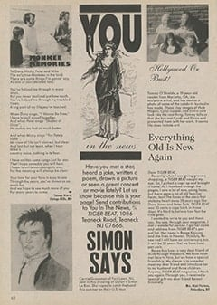 <cite>Tiger Beat</cite> (September 1987), You in the News, Page 68