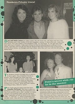 <cite>16's All-Star Family Special</cite> (Winter 1987–1988), Monkees' Private Lives, Page 12