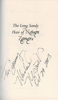 Michael Nesmith Autograph, The Long Sandy Hair of Neftoon Zamora