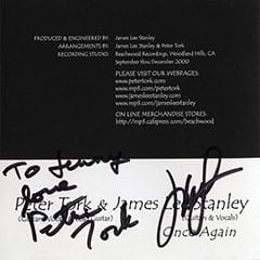 Peter Tork, James Lee Stanley Autograph