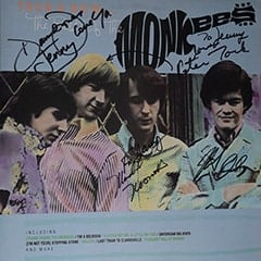 Davy Jones, Michael Nesmith, Micky Dolenz & Peter Tork Autographs, Then and Now