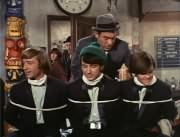 Horace (Louis Quinn), Davy Jones, George (Vic Tayback), Micky Dolenz, Mike Nesmith, Peter Tork