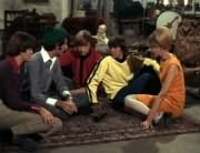 Micky Dolenz, Mike Nesmith, Peter Tork, Davy Jones, Girl (?)